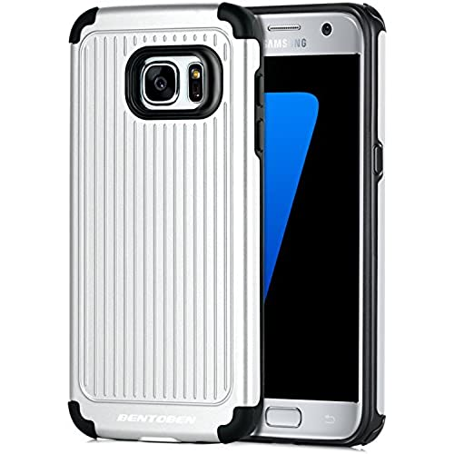 Galaxy S7 Case, S7 Case, BENTOBEN Bumper Protective Slim Shockproof TPU and Hard PC Hybrid Dual Layer Combo Cover for Samsung Galaxy S7, Silver Sales