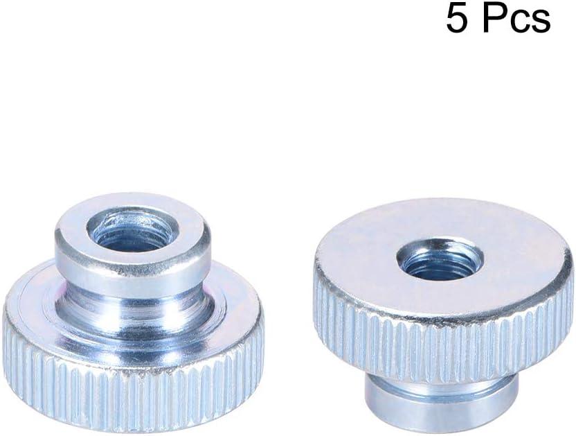 Sourcingmap redondas 5 unidades con cuello Tuercas de pulgar moleteadas chapado en zinc