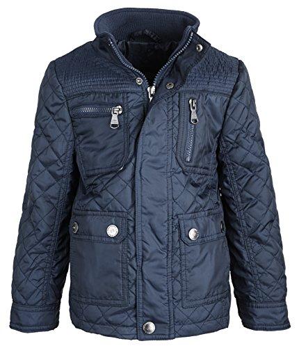Urban Republic Big Boys Lightweight Padded Diamond Quilted Spring Jacket - Navy (Size 10/12)
