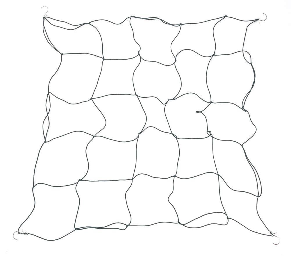 HORTIPOTS Grow Tent Net, Plant Trellis Elastic Netting 4x4 Net Trellises for Grow Tent Poles 4x4