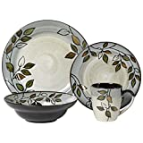 Pfaltzgraff 5136396 Rustic Leaves Dinnerware Set, Assorted