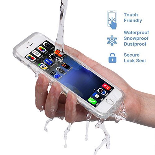 Save4you iPhone 6/6S Waterproof Phone Case Shockproof Dustproof Full Sealed Protection Cover Super Thin Case for Apple iPhone (6/6S(4.7 inch) Clear)