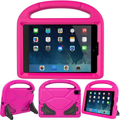 LEDNICEKER Kids Case for iPad Mini 1 2 3 4 5 - Light Weight Shock Proof Handle Friendly Convertible Stand Kids Case for iPad Mini, Mini 5, Mini 4,iPad Mini 3rd Generation, Mini 2 Tablet - Magenta/Rose