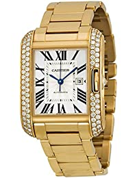 Tank Anglaise Silver Dial 18kt Pink Gold Mens Watch WT100003