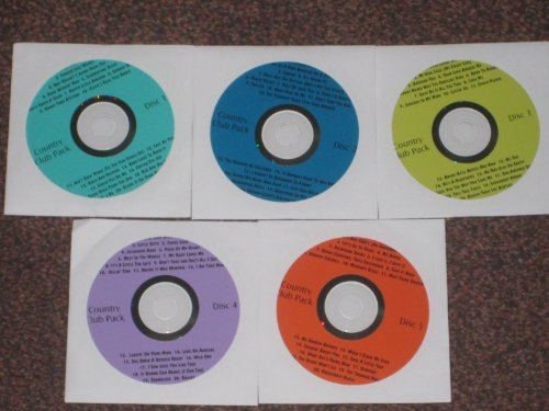 - Music Maestro COUNTRY PACK #1-5 Disk Karaoke CDG Set 100 Songs