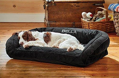 Orvis Comfortfill Bolster Dog Bed Medium Dogs Up To 18-27 Kg, Slate,