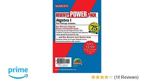 Regents Algebra I Power Pack: Let's Review Algebra I +