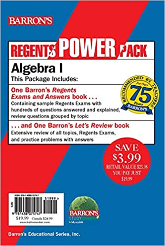 Algebra I Regents Algebra I Power Pack Regents Exams and Answers Lets Review Algebra I