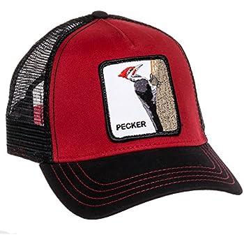 Goorin Bros Mens Woody Pecker Animal Trucker Baseball Cap (Red)