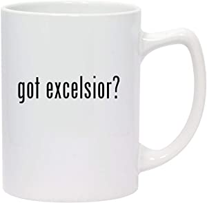 got excelsior? - 14oz White Ceramic Statesman Coffee Mug
