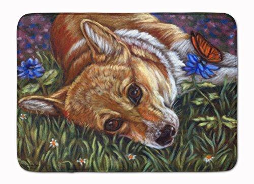 "Caroline's Treasures Corgi Pastel Butterfly Floor Mat 19"" x 27"" Multicolor from Caroline's Treasures"