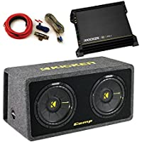 "Kicker CompS dual 10"" ported enclosure bundle"