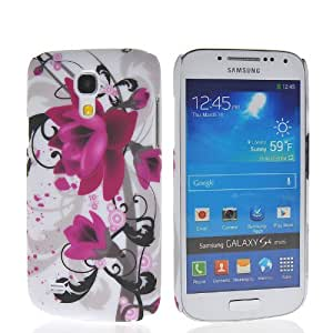 EVERGREENBUYING Flower Butterfly Printing Hard Rubberized Coating Back Case Cover For Samsung Galaxy S4 Mini I9190 267