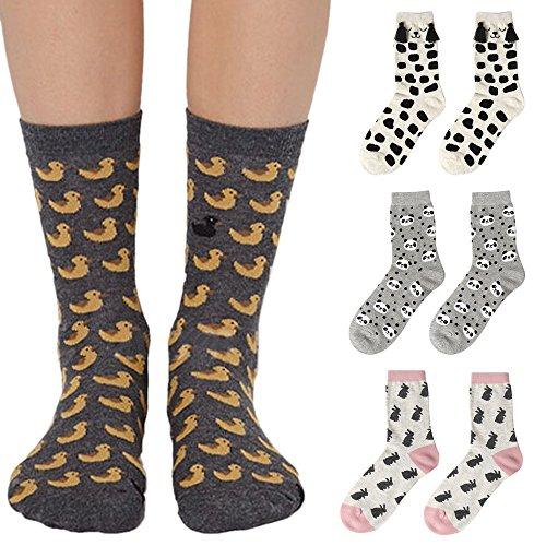 Sanwood Unisex Creative Cartoon Animal Tube Socks Winter Autumn Casual Socks