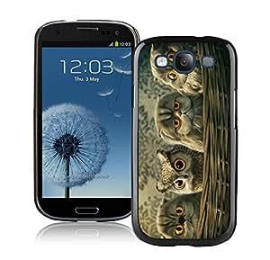 Fashion Designed Cute Owl 8 Black Samsung Galaxy S3 Phone Case