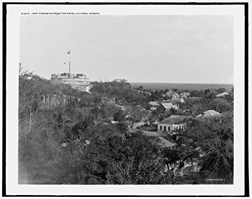 (16 x 20 Ready to Hang Canvas Wrap Fort Fincastle from The Royal Victoria Hotel Nassau 1900 Detriot Publishing 89a)