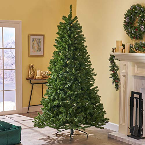 Christopher Knight Home 307323 7.5-Foot Noble Fir Unlit Hinged Artificial Christmas Tree, Green (Artificial Noble Tree Christmas Fir)