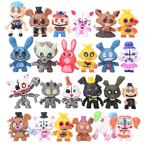 24Pcs/Set Five Nights at Freddy's 4 FNAF Action Figure Toys 5-7CM Q Styles Freddy Foxy Bear Bonnie Chica Vinyl Dolls for Kids