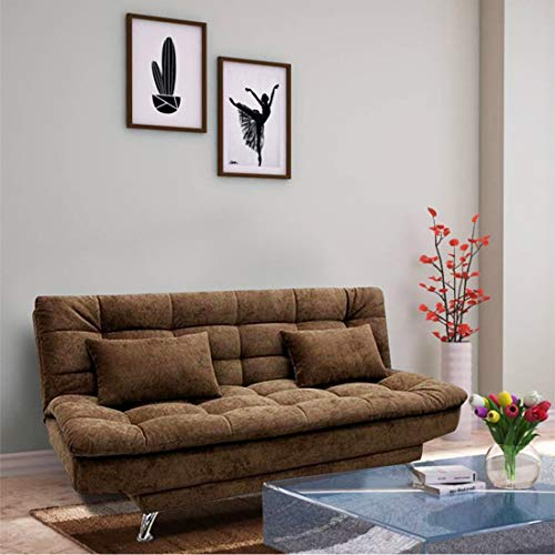 Furny Supersoft 3 Seater Sofa Cum Bed  Brown
