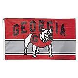 Georgia Bulldogs Flag 3×5 Vintage Throwback Logo Deluxe Grommets Reinforced Flyend Vault
