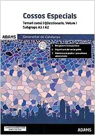 Temari Comú I Qüestionaris Volum I Subgrups A1 I A2 Cossos Especials Generalitat De Catalunya Vv Aa Vv Aa Amazon Es Libros