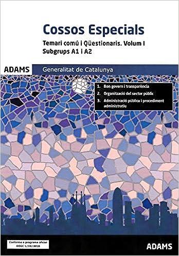 Temari Comú I Qüestionaris Volum I Subgrups A1 I A2 Cossos Especials Generalitat De Catalunya Amazon Es Vv Aa Vv Aa Libros