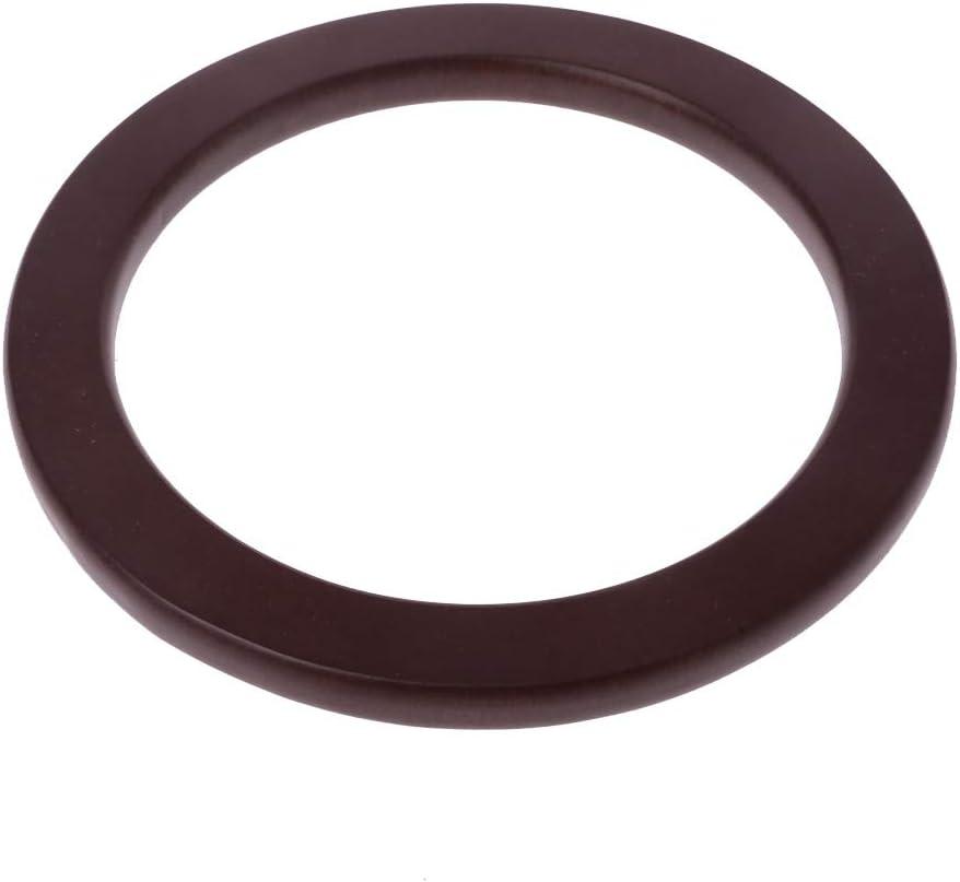 JERKKY Manico per Borsa 1 Pezzo 13 cm di Ricambio in Legno a Forma Rotonda con Manico per Borse da Viaggio da Donna Borse da Spiaggia causali