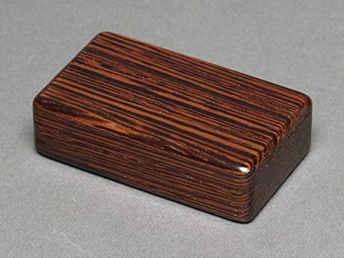 Small Wood and Steel Pill Box, Wenge by Watson Woodworks