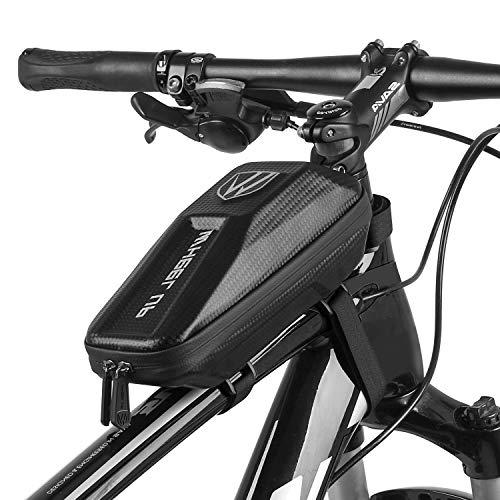 Elegant Choise Bike Frame Bag, Waterproof Bike Top Tube Bag Bicycle Bag Cycling Frame Pack with Double Zipper Design (Black)