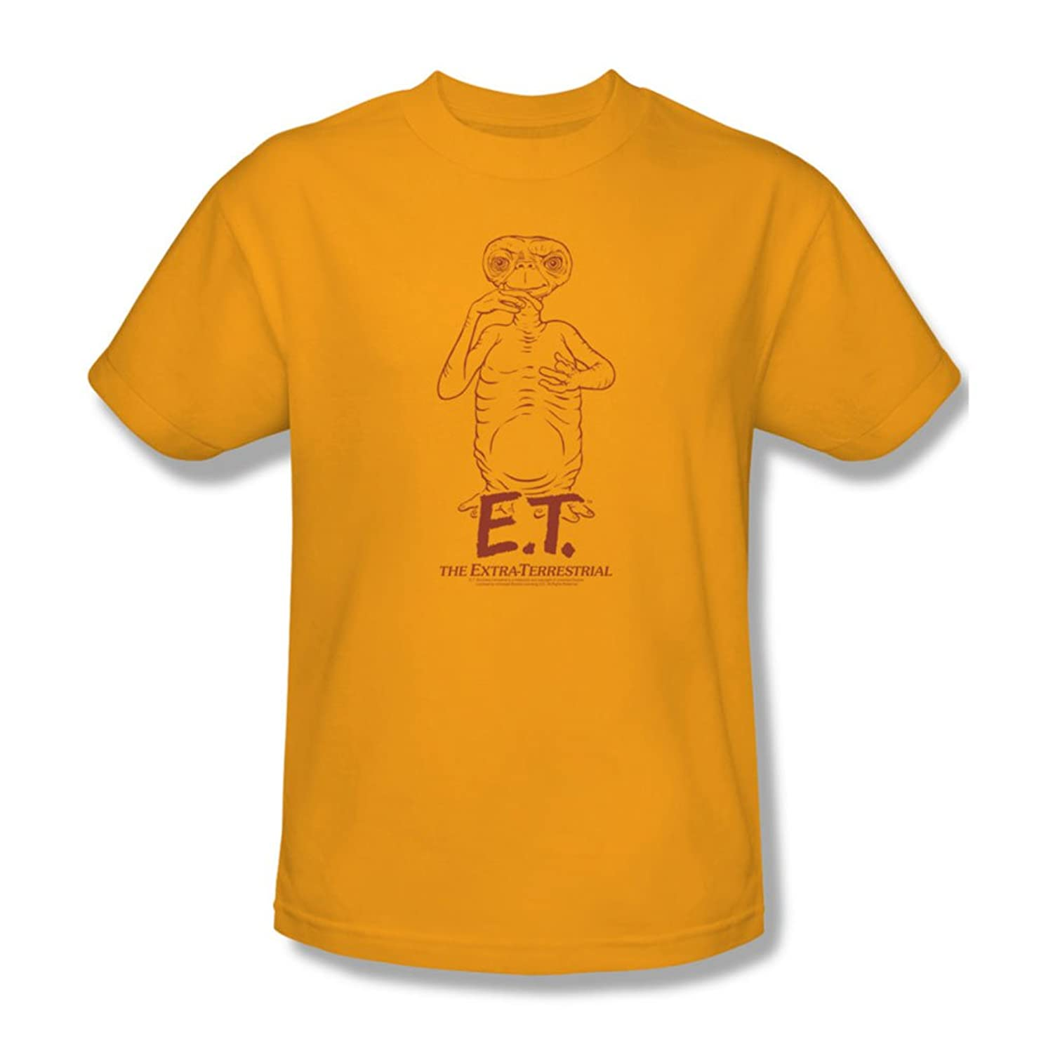 Et - Mens Alien Swag T-Shirt In Gold