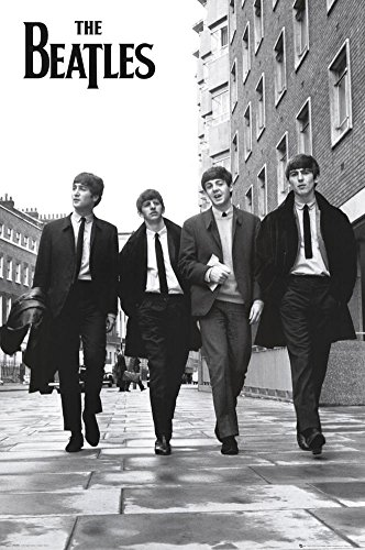 The Beatles Walking Down Street Music Poster Print