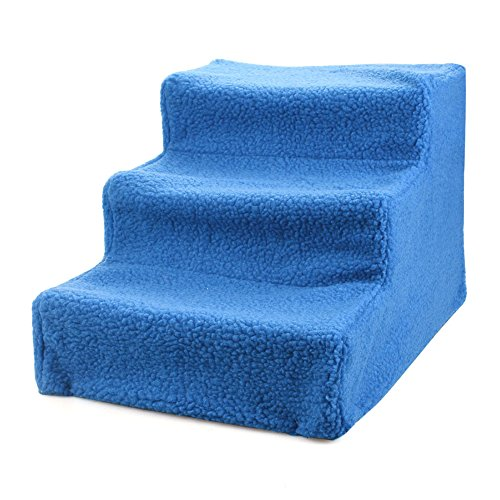 RONSHIN Puppy Cat Bed Stairs, Detachable Pet Stairs, Level 4 Ladder (Blue) by RONSHIN