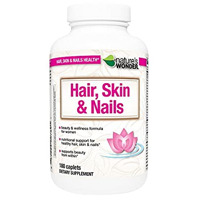 Nature's Wonder Vitamin for Hair/Skin and Nails, 180 Count