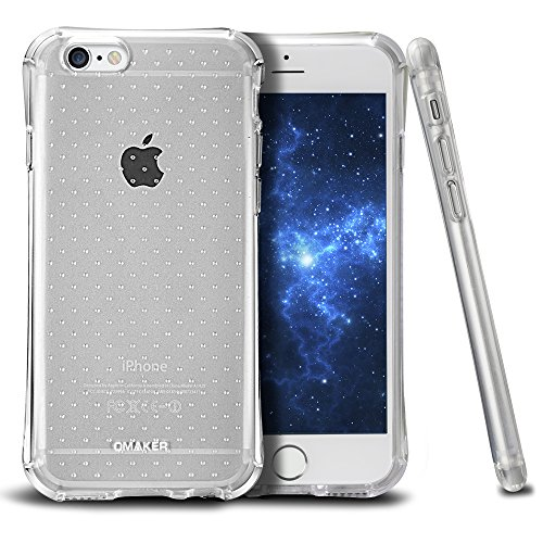 Omaker Slim Bumper Case with Soft Flexible TPU Material for iPhone 6/iPhone 6S (4.7 Inch) (Iphone 4 Bumper Clear)