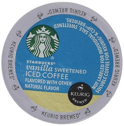 Keurig Starbucks Vanilla Sweetened Iced Coffee K-cup 16 Ct