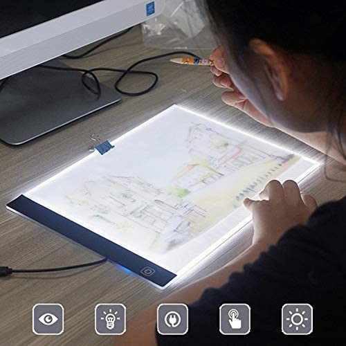 FUVOYA Ajustable A4 LED Caja de Dibujo Tabla de rastreo Ultra ...