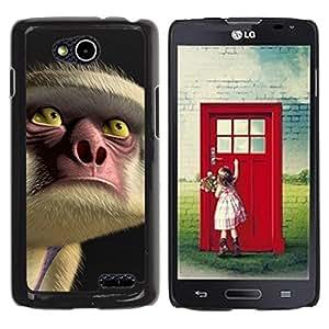 For LG OPTIMUS L90 / D415 Case , Face Eyes Nose Cartoon - Diseño Patrón Teléfono Caso Cubierta Case Bumper Duro Protección Case Cover Funda