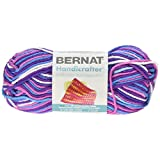 Bernat Handicrafter Cotton Yarn, Ombre, 1.5 Ounce, Purple Perk