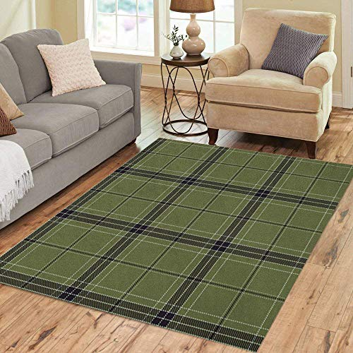 (Pinbeam Area Rug Flannel Plaid Tartan Traditional Scottish Tiles for Abstract Home Decor Floor Rug 2' x 3' Carpet)