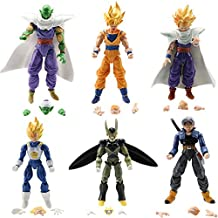 Dragon Ball Z 6pcs Set Action Figure Dragonball Z Goku Piccolo DBZ Jp Anime Toys Loose