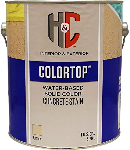 (Colortop Water-Based Solid Color Concrete Stain Bombay Gallon)