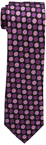 Sean John Men's Two Color Dot Tie, Berry, One Size