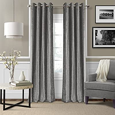Elrene Home Fashions 026865796254 Blackout Energy Efficient Room Darkening Grommet Velvet Window Curtain Drape Regal Solid Panel -  - living-room-soft-furnishings, living-room, draperies-curtains-shades - 512auF3OUzL. SS400  -