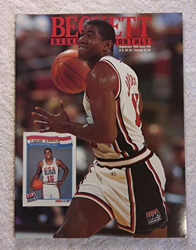 - Magic Johnson - Team USA, Olympic Dream Team - Beckett Basketball Monthly Magazine - #26 - September 1992 - Back Cover: Kendall Gill (Charlotte Hornets)