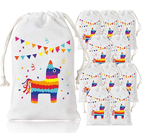 KREATWOW Llama Party Bags Party Favor Goodie Treat Bags for Llama Birthday Party Fiesta Cinco de Mayo Party Supplies 5 x 8 inches 12 Pack