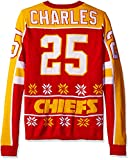 NFL Kansas City Chiefs Jamaal Charles Unisex NFL Player Ugly Sweater, Small