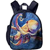 Baby Boys Girls Toddler Octopus Pre School Lunch Bag Navy