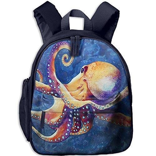Baby Boys Girls Toddler Octopus Pre School Lunch Bag Navy by Fashion Theme Tshirt