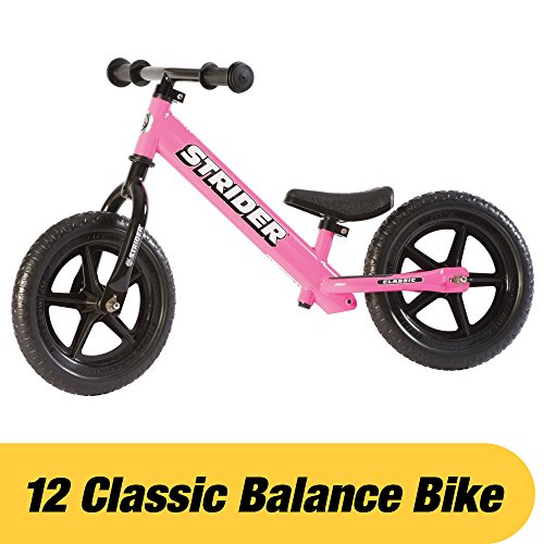 Strider - 12 Classic No-Pedal Balance Bike, Ages 18 Months to 3 Years, (Pink Balance)