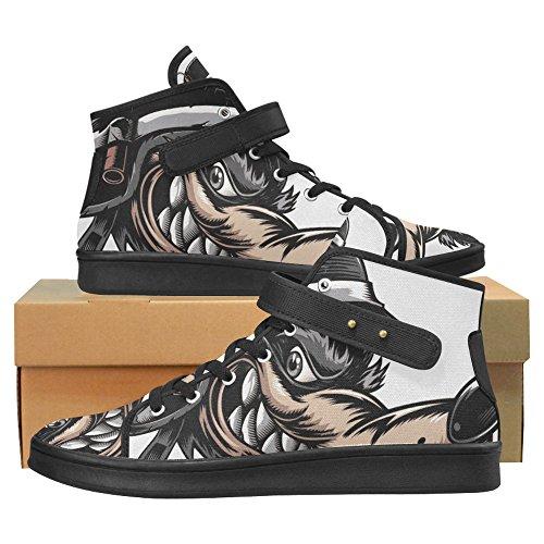 Interestprint Schedel Doek Schoenen Mode Schoenen Voor Vrouwen Wolf